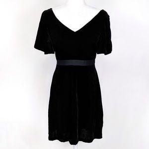 Ann Taylor Velvet Flutter Sleeve Cocktail Dress 0